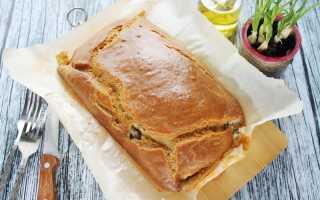 Пирог из картошки и рыбы из консервы