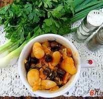 Рагу овощное с фасолью и грибами