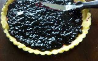Пирог из черничного варенья рецепт