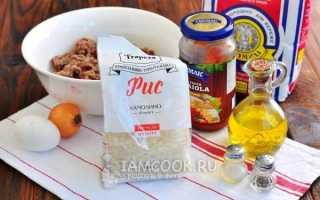 Рецепт приготовления тефтелей с рисом в духовке