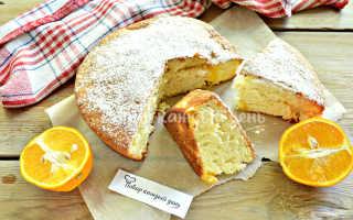 Пирог нежность с апельсинами