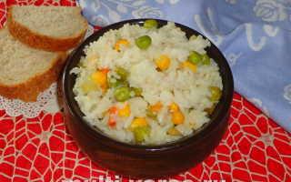 Рис с гавайской смесью в мультиварке