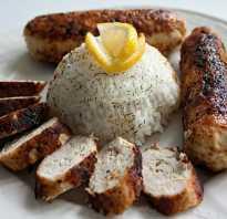 Рис с купатами в мультиварке