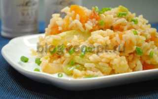 Рецепт тушеных кабачков с рисом