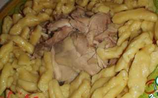 Рецепт чеченских галушек с курицей