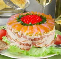 Рецепт салата царский с семгой