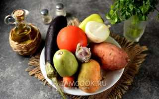 Рагу из репы и овощей
