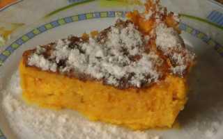 Пирог тыква с творогом и манкой рецепт