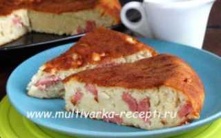 Пирог с колбасой и сыром в мультиварке