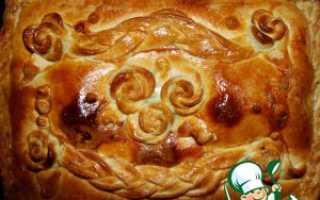 Пирог с сайрой калорийность