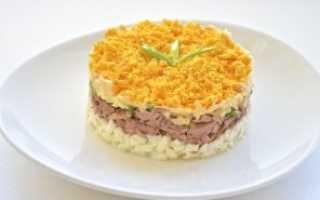 Рецепт салата мимоза с курицей