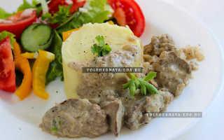 Печень куриная в сливках рецепт на сковороде