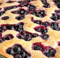 Рецепт пирога со смородиновым вареньем в духовке