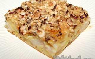 Рецепт яблочного пирога с грушами