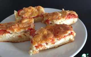 Пирог с адыгейским сыром и помидорами