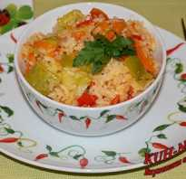 Рис с кабачками и болгарским перцем