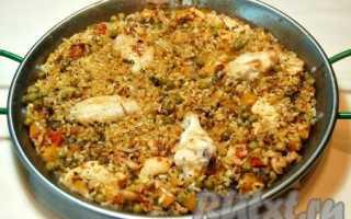 Паэлья с курицей рецепт с фото пошаговый