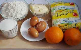 Рецепт пирога с апельсинами и творогом