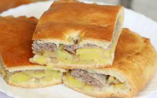 Пирог с картошкой и мясом сочный