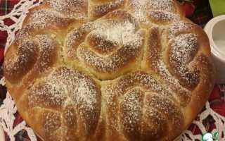 Пирог из булочек розочек