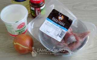 Рецепт желудочков индейки в сметане