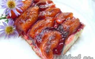 Пирог дрожжевой со сливой рецепт с фото