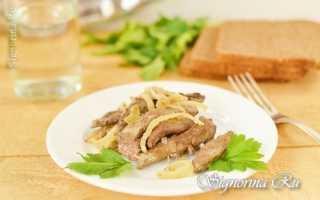 Печень свиная в сливках рецепт