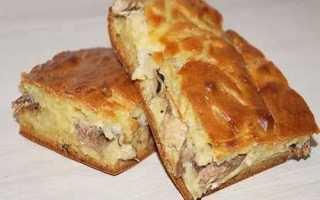 Пирог с килькой и картошкой