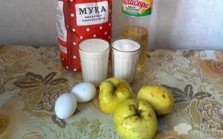 Пирог с яблоками на кислом молоке рецепт