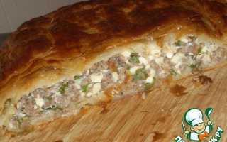 Пирог с фаршем и брынзой