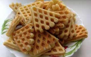 Рецепт вафельного печенья для электровафельницы