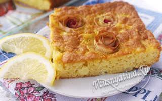 Пирог на майонезе сладкий с яблоками
