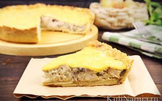 Пирог с жульеном закрытый