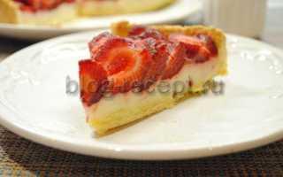 Пирог с клубникой желатин
