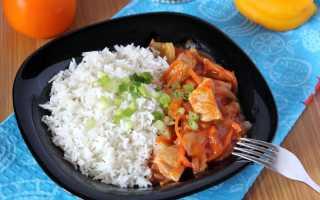 Рис с гуляшом из свинины рецепт