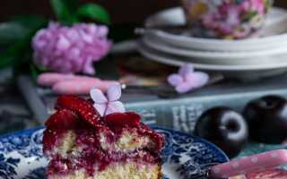Пирог со сливами без муки