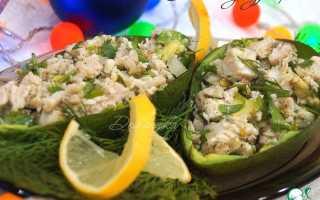 Рецепты салатов с авокадо и курицей