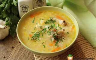 Рецепт куриного супа с пшеном