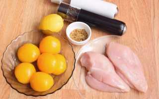 Рецепт куриной грудки с персиками