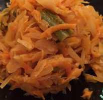 Рецепт тушеной капусты с фасолью в мультиварке