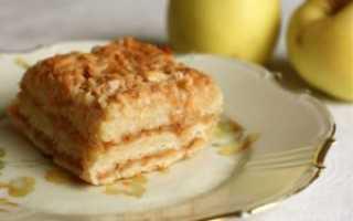Пирог из яблок манки муки и сахара
