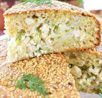 Пирог с курицей и капустой калорийность