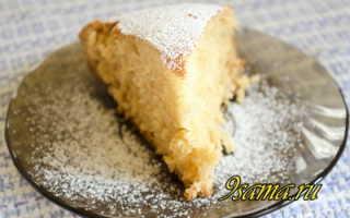 Пирог из молока яиц муки и сахара