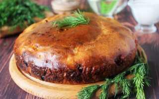 Пирог на кефире с фаршем в духовке