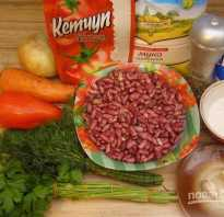 Рагу с фасолью и овощами