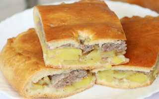 Пирог с мясом и картошкой рецепт видео