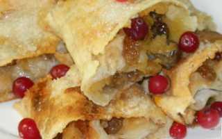 Пирог с яблоками из лаваша в духовке