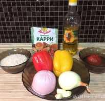 Рис с колбасой и яйцом