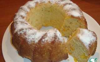 Пирог с апельсином на кефире