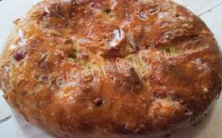 Пирог из картофельного теста с капустой